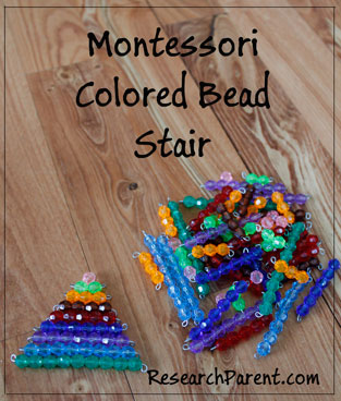 Montessori Colored Bead Stair by ResearchParent.com