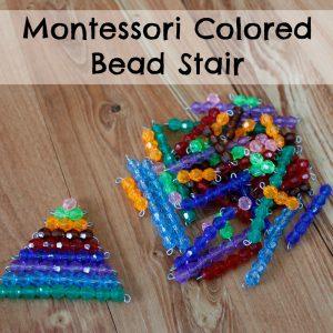 Montessori Colored Bead Stair