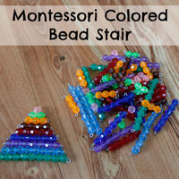 Montessori Colored Bead Stair