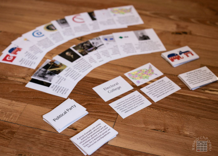 Montessori-inspired multi-part United States Presidential Election Cards