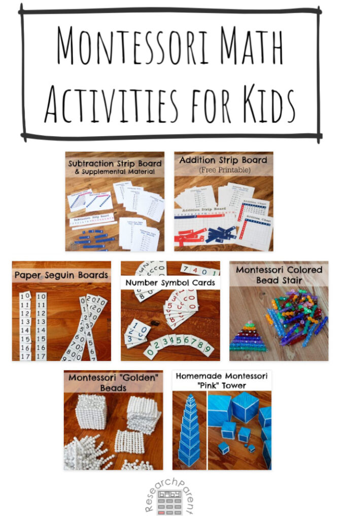 Montessori Math Activities for Kids