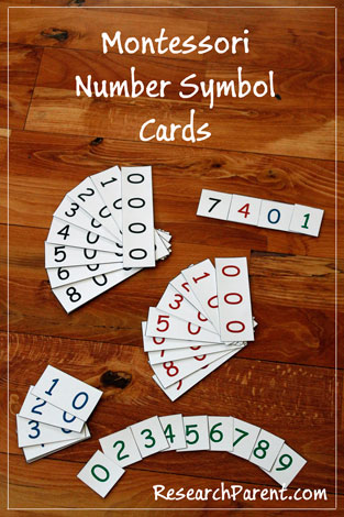 Montessori Number Symbol Cards Pin by ResearchParent.com