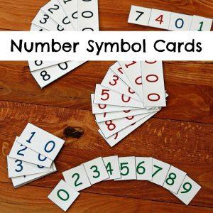 Number Symbol Cards