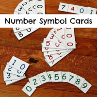 Montessori Number Symbol Cards