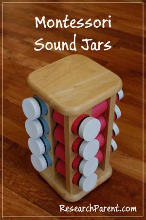 Montessori Sound Jars by ResearchParent.com
