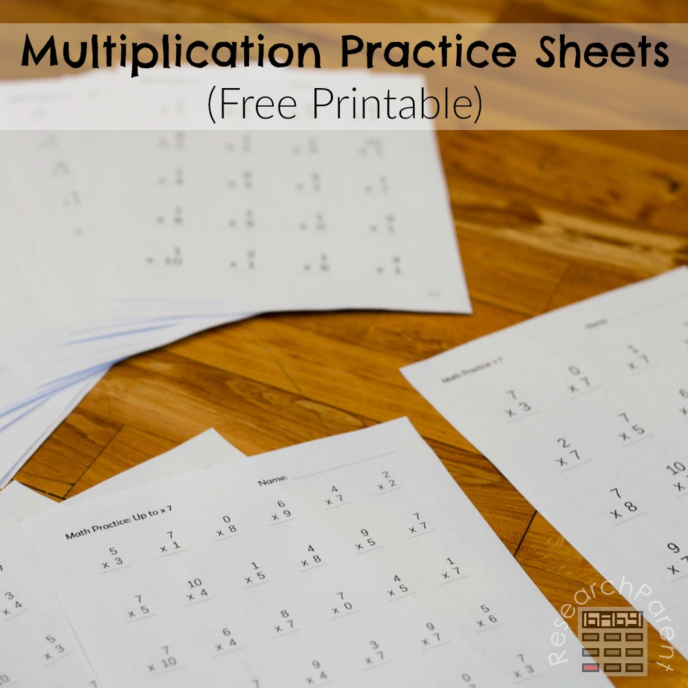 Multiplication Practice Sheets - ResearchParent.com