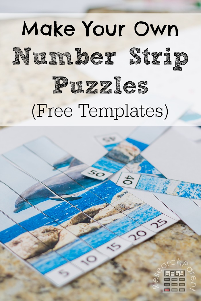 Make Your Own Number Strip Puzzles