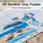 DIY Number Strip Puzzles