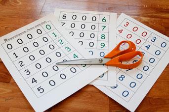 Number-Symbol Cards Materials