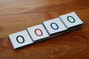 Number Symbol Card Stack