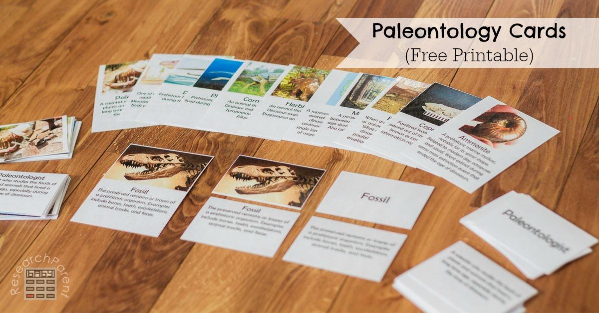 Paleontology Cards - ResearchParent.com