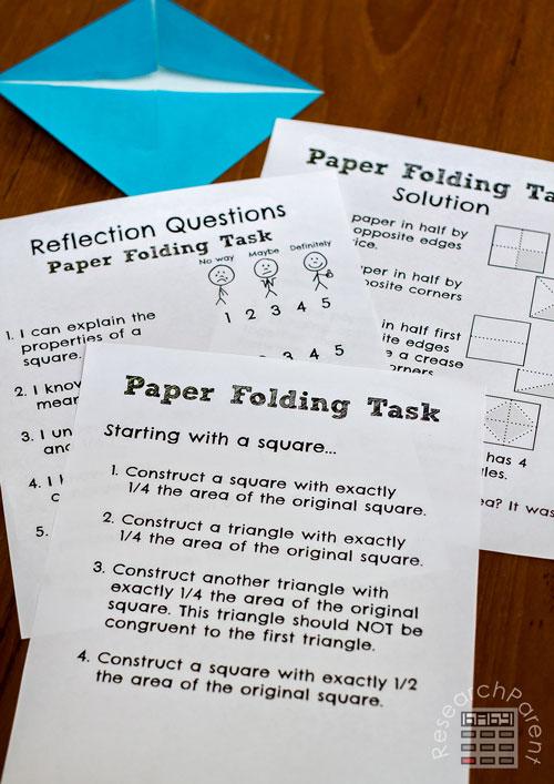 Paper Folding Task
