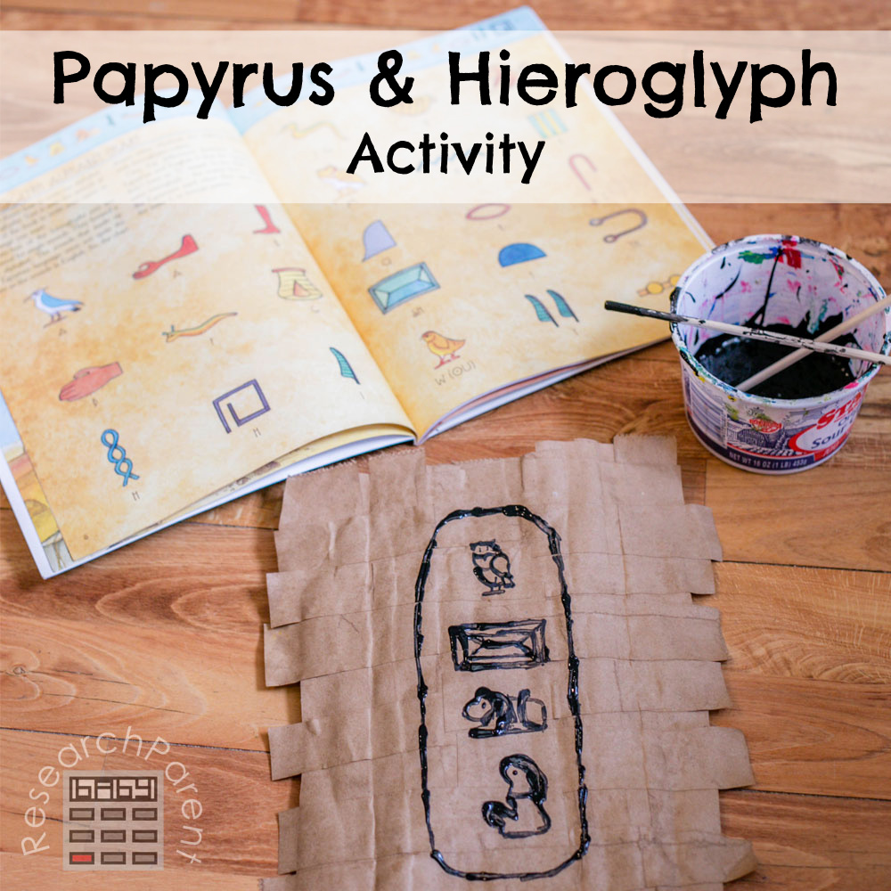 Papyrus and Hieroglyph activity
