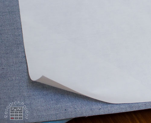 Peel off backing from adhesive