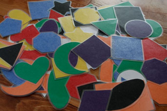 Pile of Colored Shapes