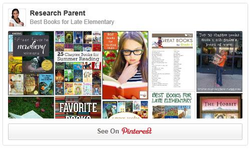 Best Books for Late Elementary Pinterest Board