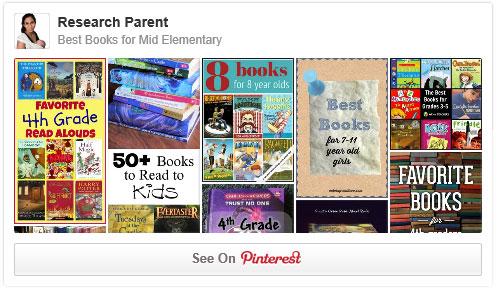 Best Books for Mid Elementary Pinterest Board