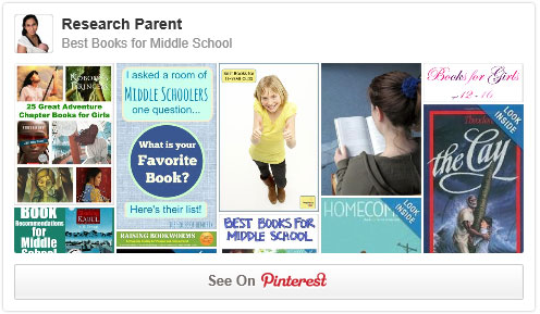 Best Books for Middle School Pinterest Board