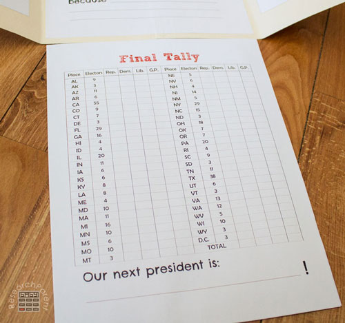 Presidential Election Final Tally