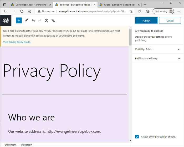 Publish Privacy Policy
