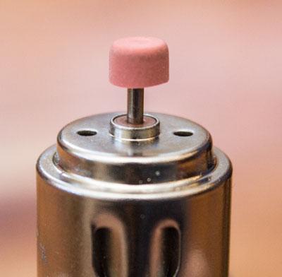 Push eraser onto motor