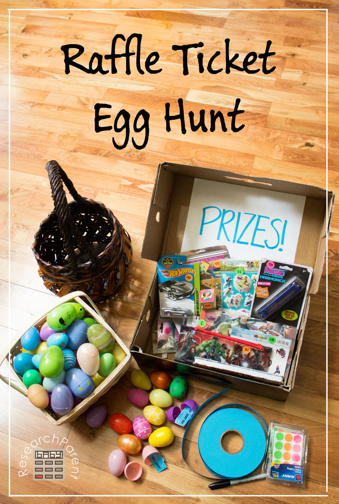 Raffle Ticket Egg Hunt by ResearchParent
