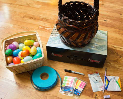 Raffle Ticket Egg Hunt Supplies