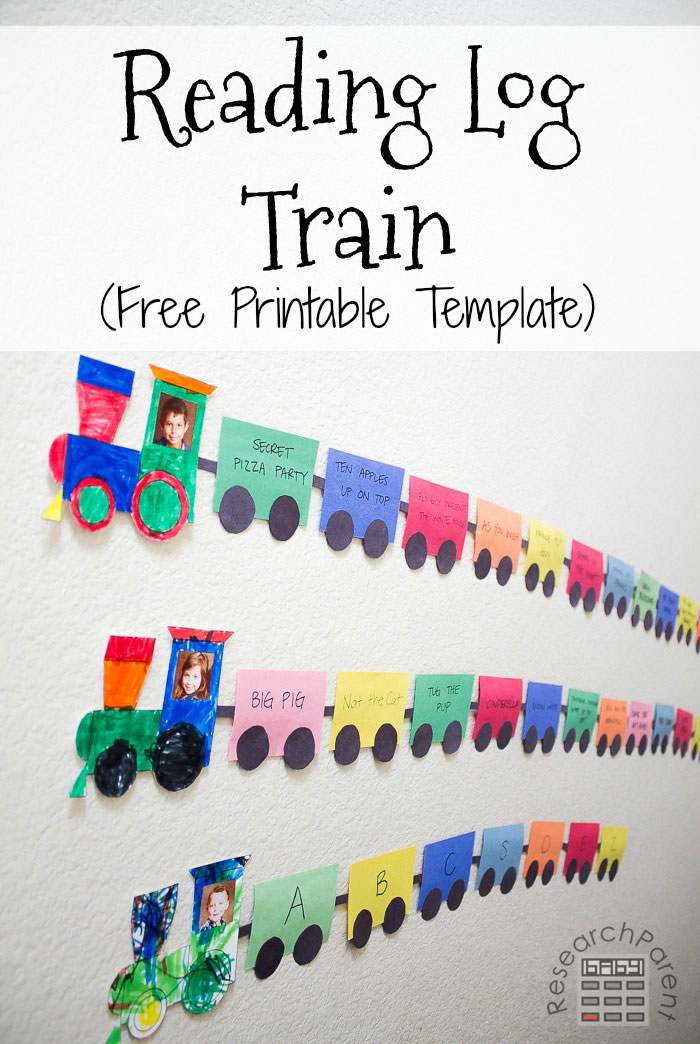 Reading Log Train (Free Printable)
