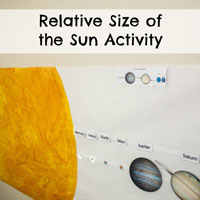 Relative Size of the Sun Activity