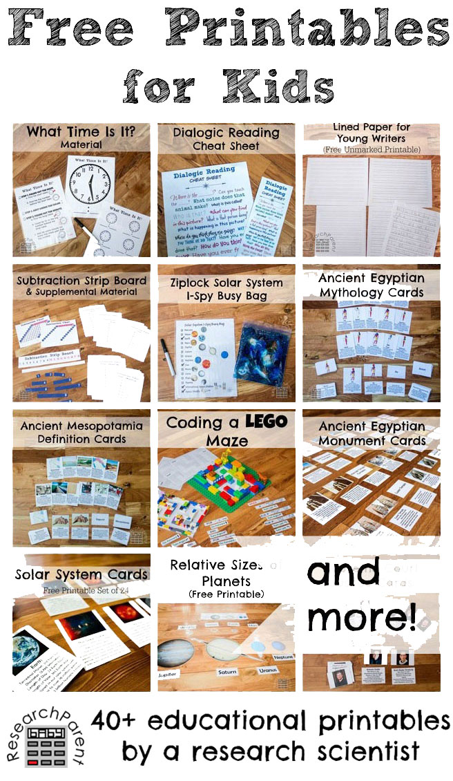 Free Printables by Research Parent