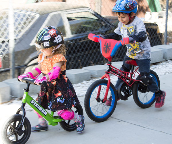 Riding a Strider and DIY Balance Bike