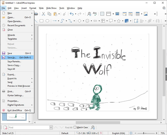 Save as a LibreOffice File