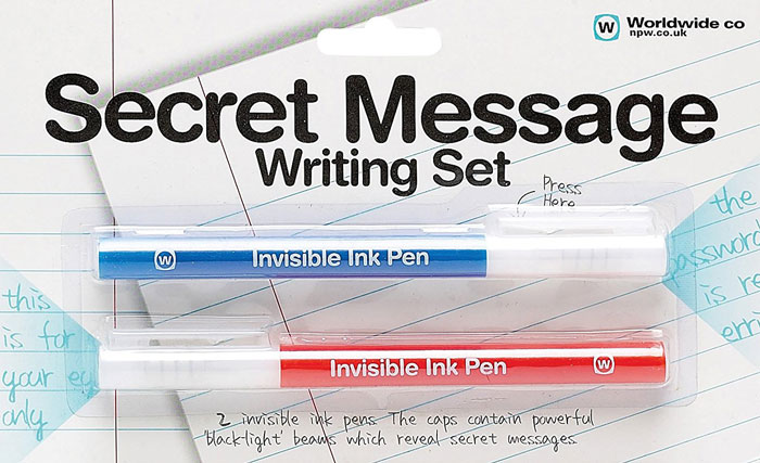 Invisible Ink Pens Secret Message Writing Set