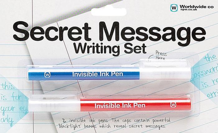 Invisible Ink Pens Secret Message Writing Set
