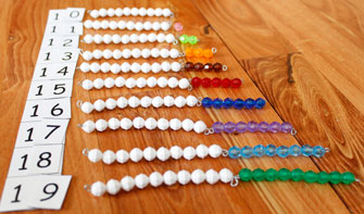 Sequin Board with Colored and White Beads