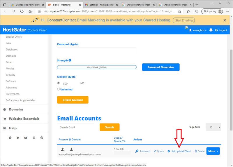 Set Up Mail Client in HostGator