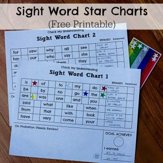 Sight Word Star Charts