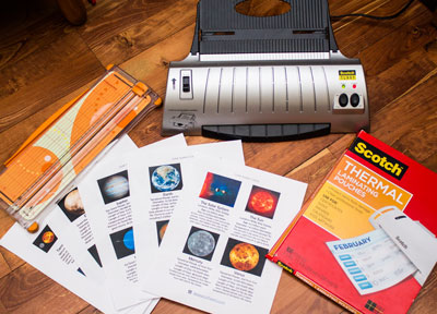 Solar System Card Supplies