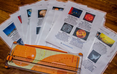 Laminated Solar System Pages