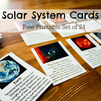 Solar System Cards