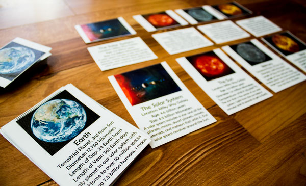 Solar System Cards Laminated
