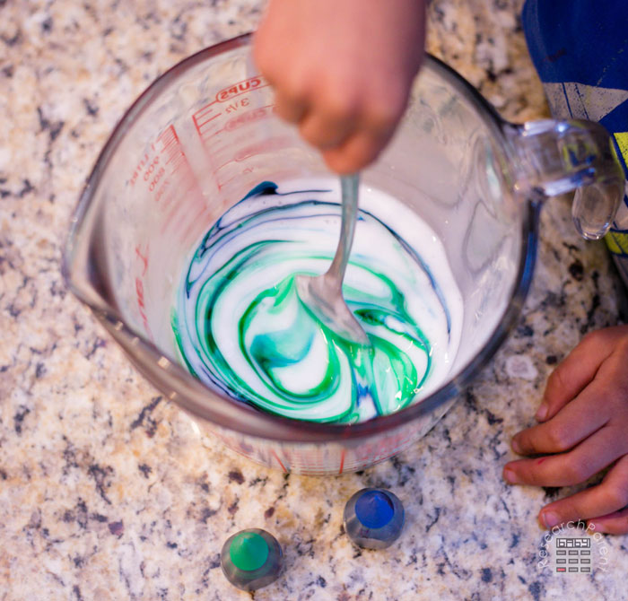 Stir the food coloring