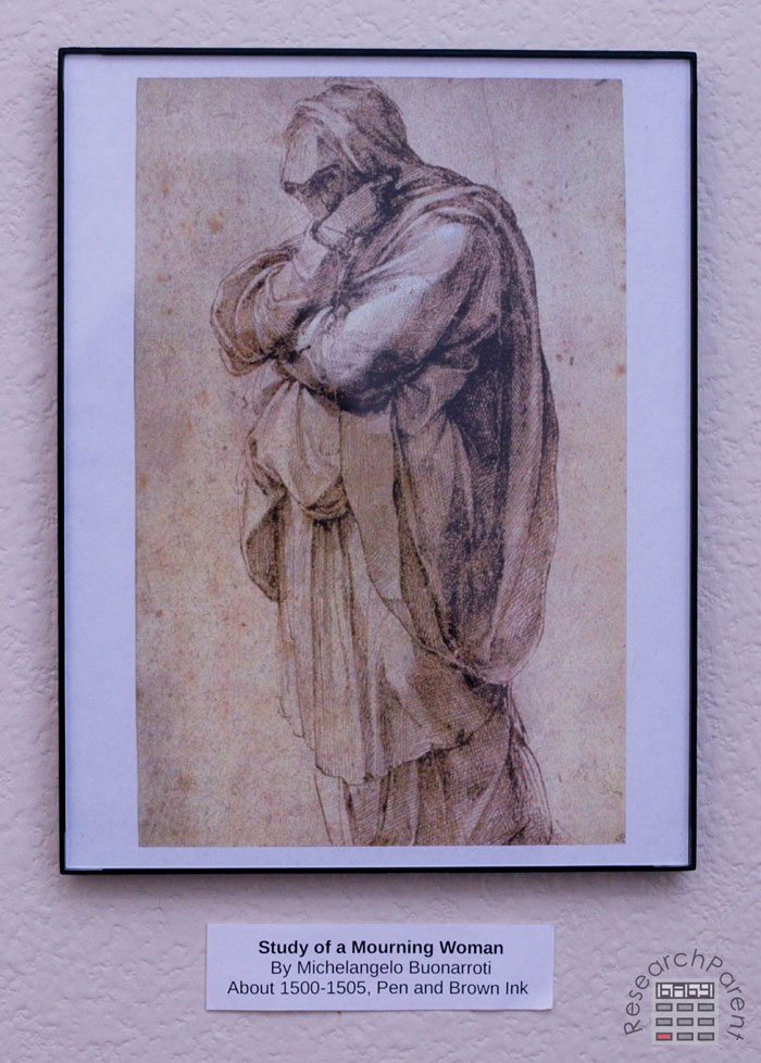 Study of a Woman Mourning by Michelangelo