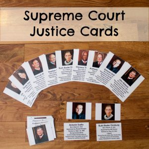 Supreme Court Justice Cards