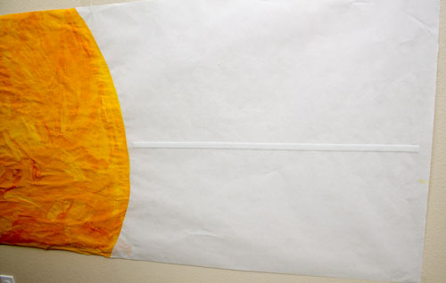Tape Velcro to Sun Poster