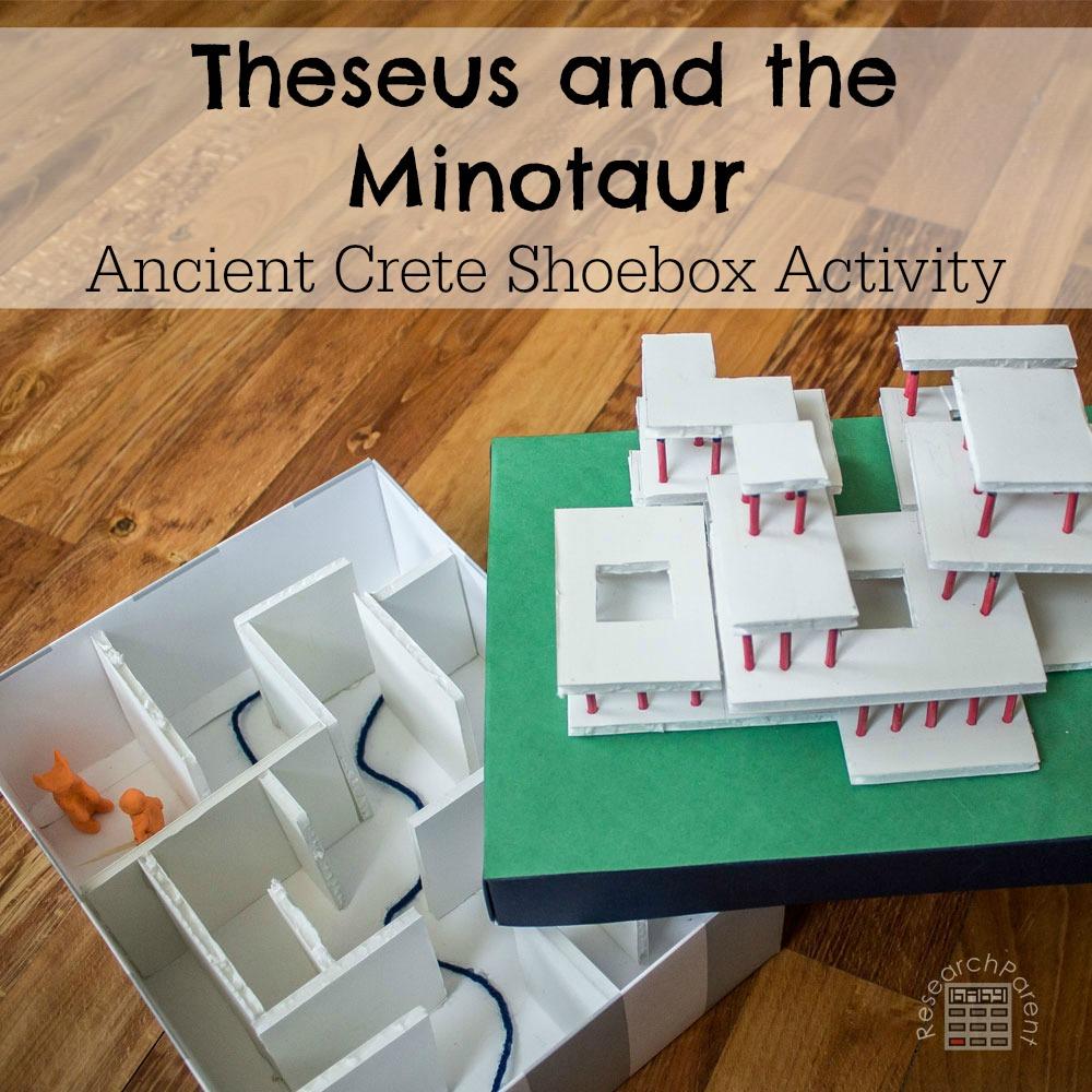 Theseus and the Minotaur Ancient Crete Shoebox Craft