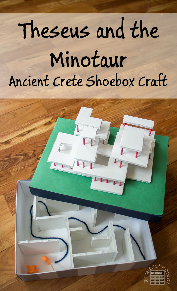 Theseus and the Minotaur: Ancient Crete Shoebox Craft