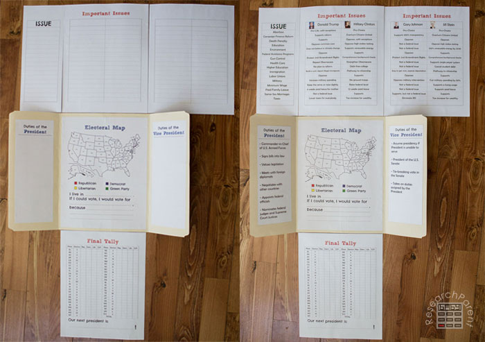 Two Versions of U.S. Presidential Lap Book