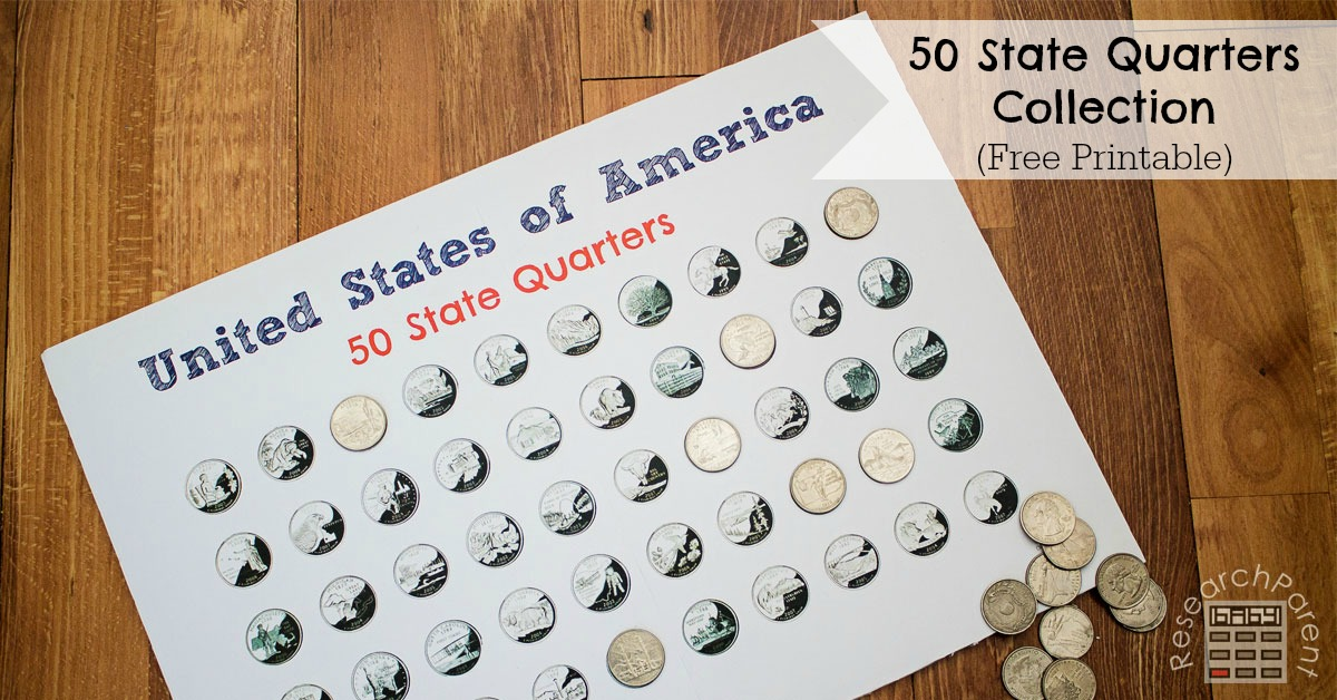 photo about Printable State Quarter Collection Sheet named United Says Quarter Assortment -