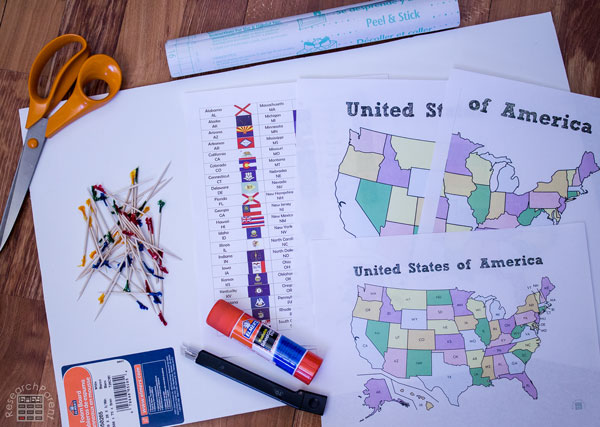 United States Toothpick Map Supplies